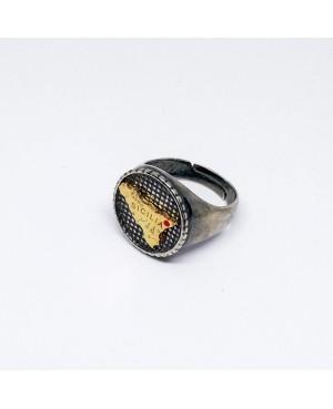 Ring Tondo Trinacria IMAN07RRO