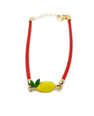 Bracciale Limone Picc Cordino Rosso IMBR24D